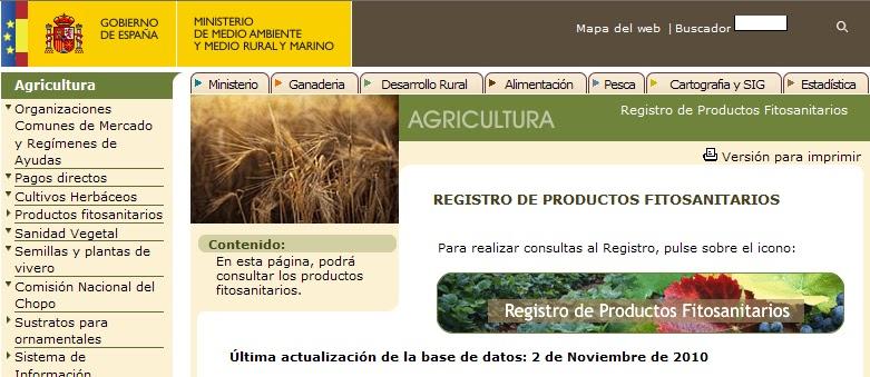 Registro de ProductosFitosanitarios